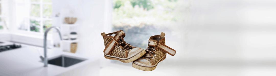 schoenen op het aanrecht